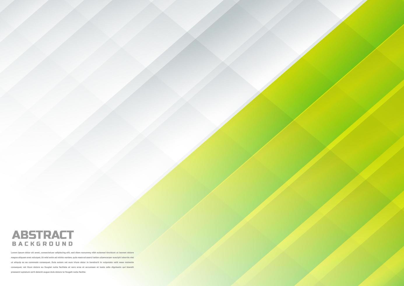 abstract diagonaal wit, citroengroen op achtergrond. vector