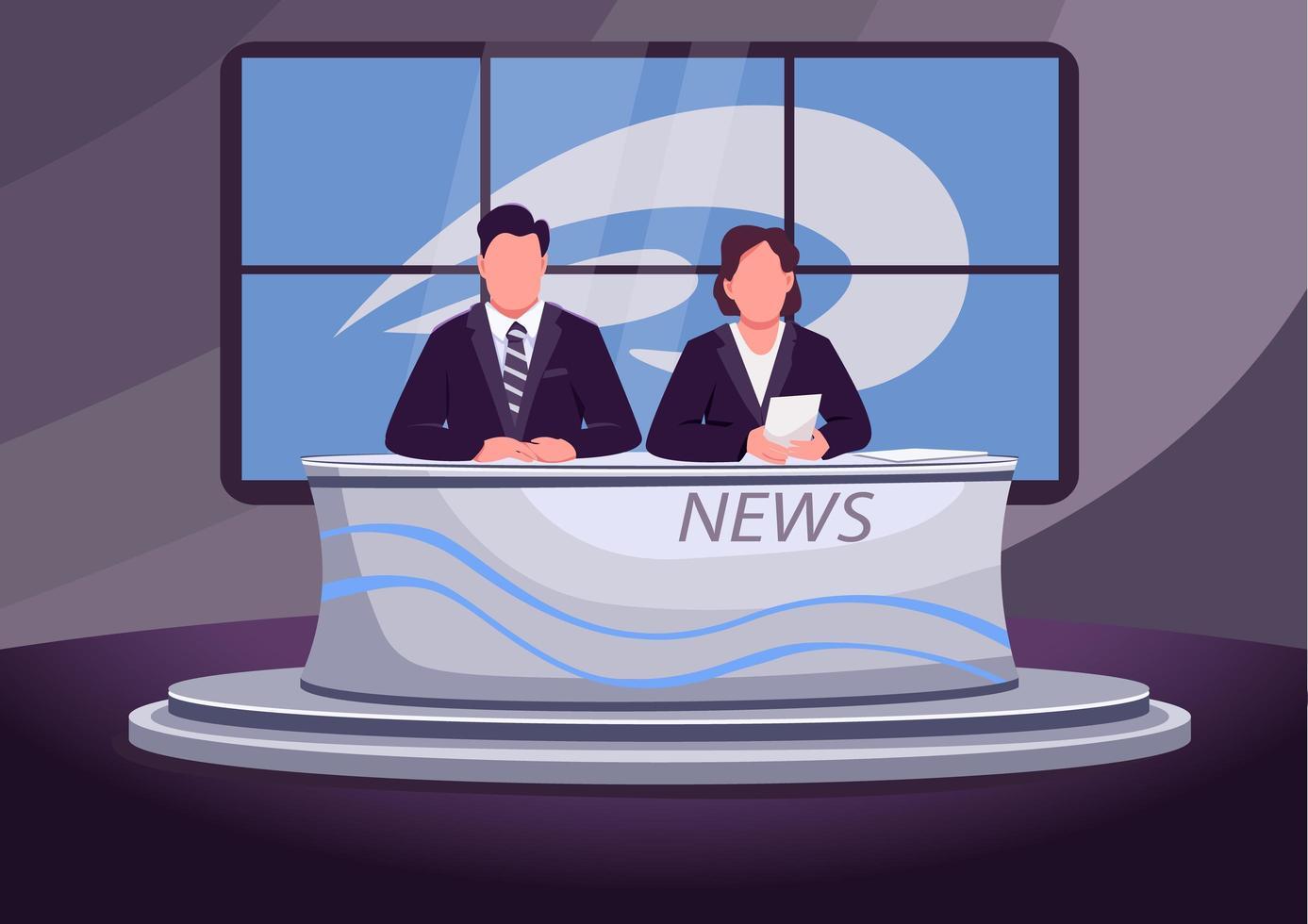 breaking news scene vector