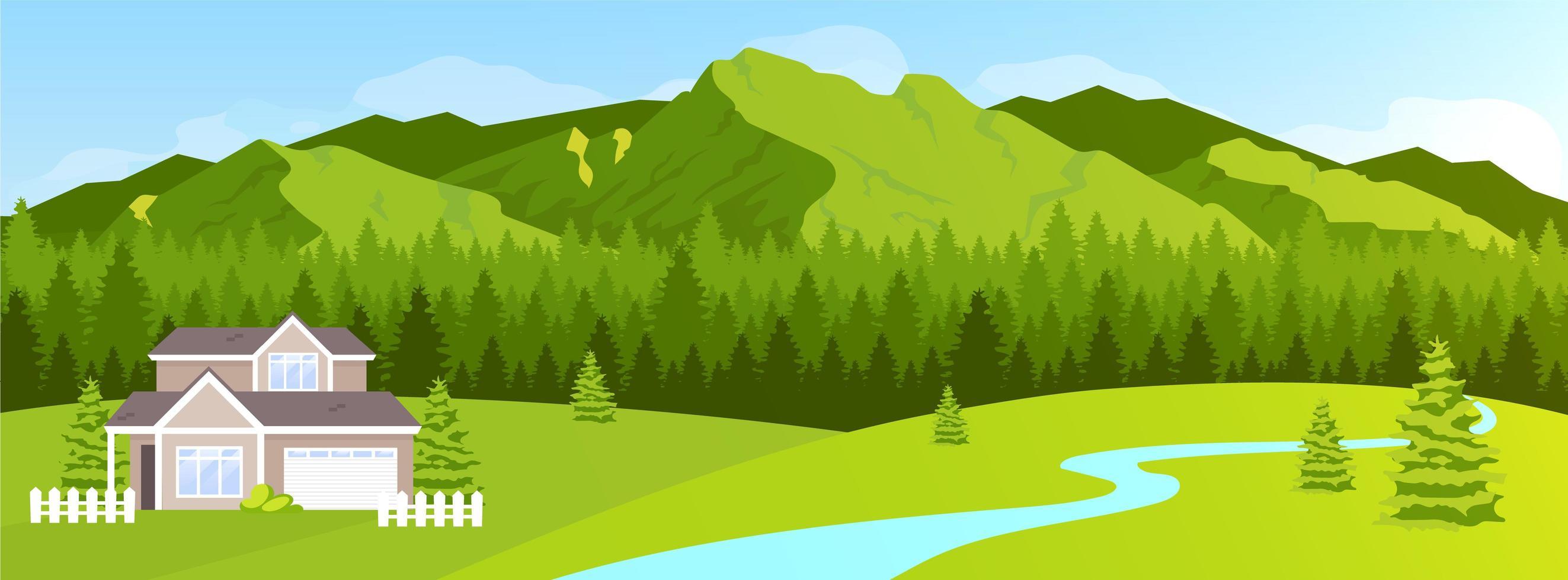 huis in de bergen vector