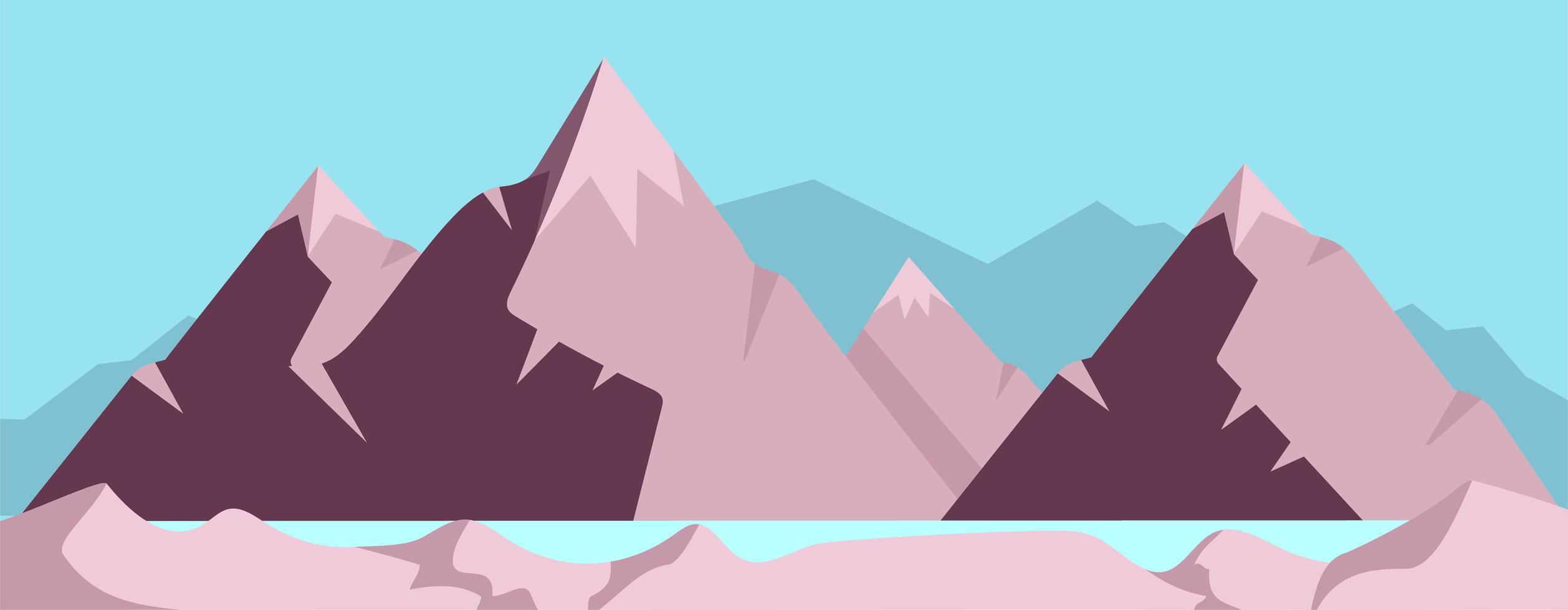 hoge bergscène vector