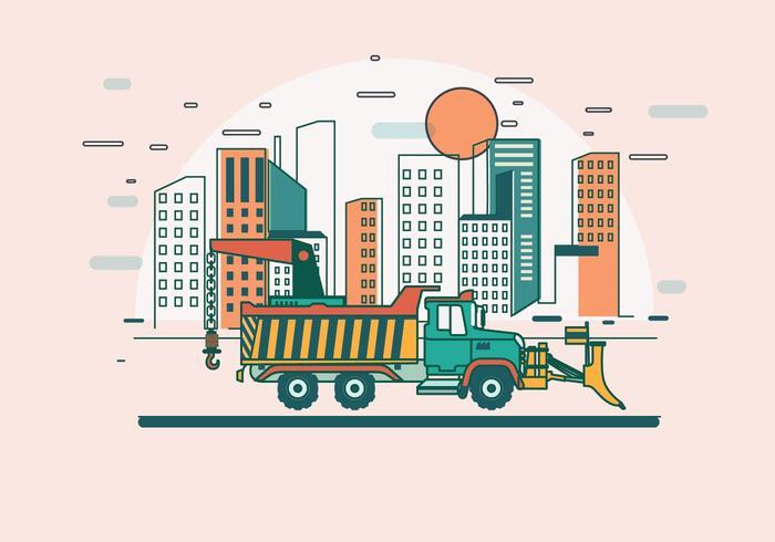 Lier op de Vrachtwagen Vector