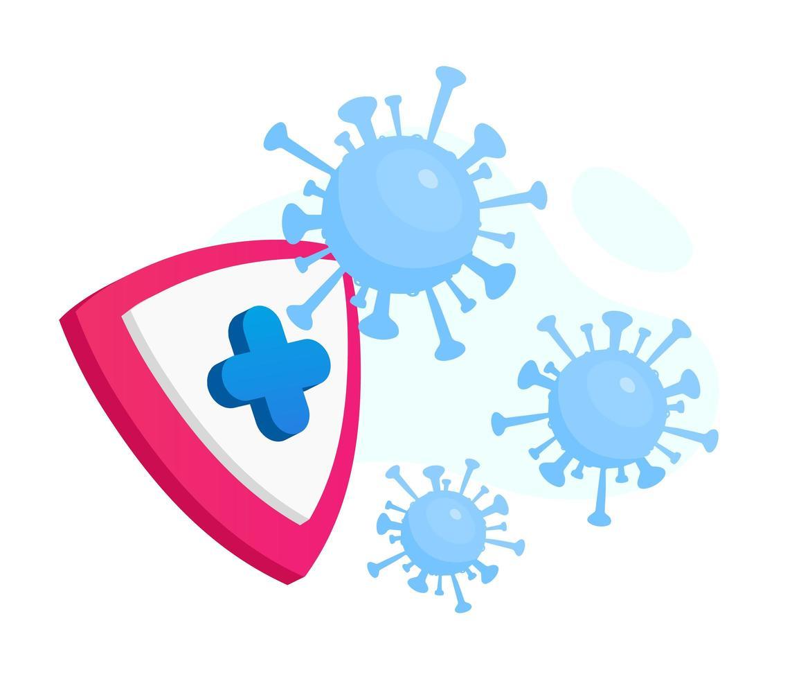 coronavirus bescherming schild vector