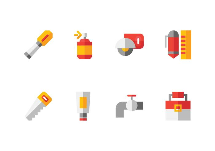 Met de hand gemaakt, DIY, Bricolage Tools Set Icon vector