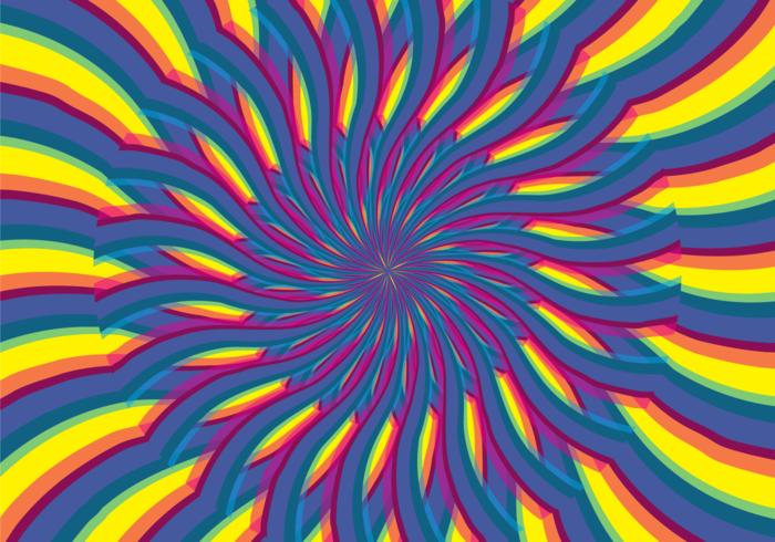 Abstracte Psychedelische Hypnose Illusie vector