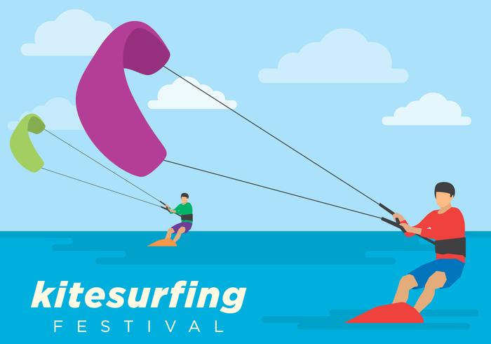 Kite Surfing Festival Illustratie vector