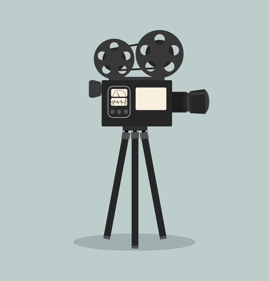 retro bioscoop filmcamera vector