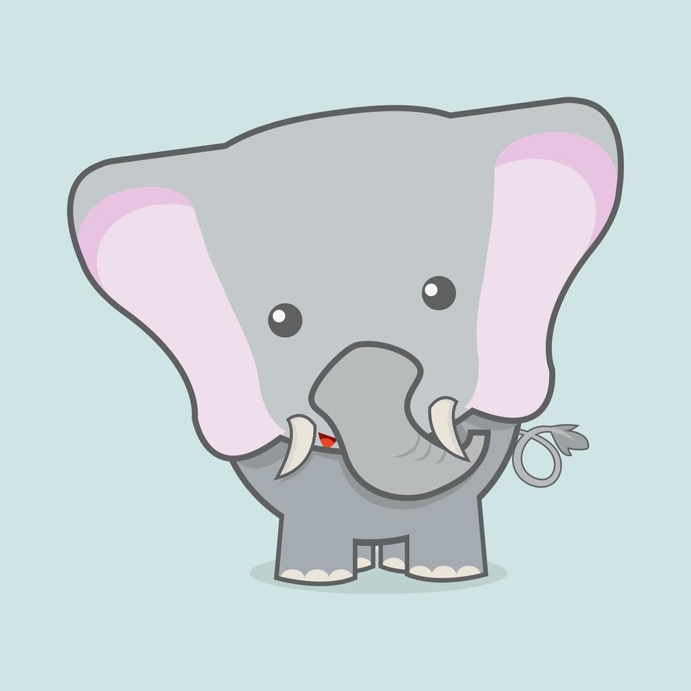 schattige olifant baby vector