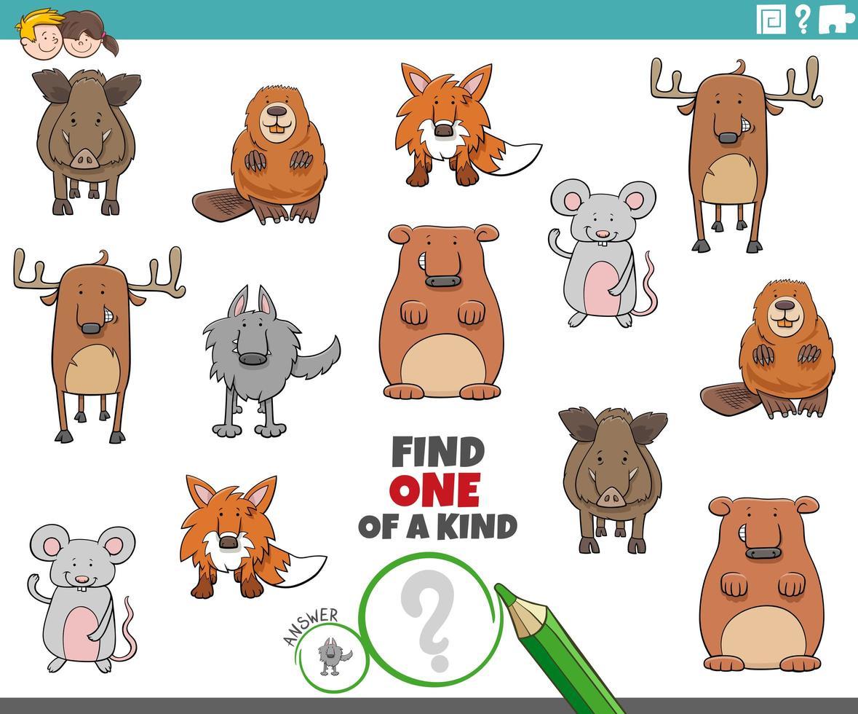 uniek spel voor kinderen vector