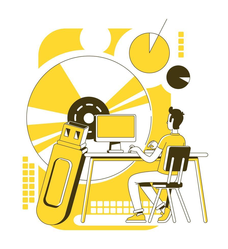 data science scene vector