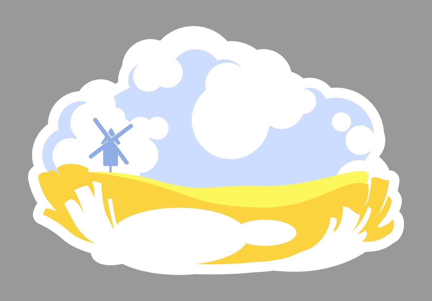 landbouwgrond 2d badge vector