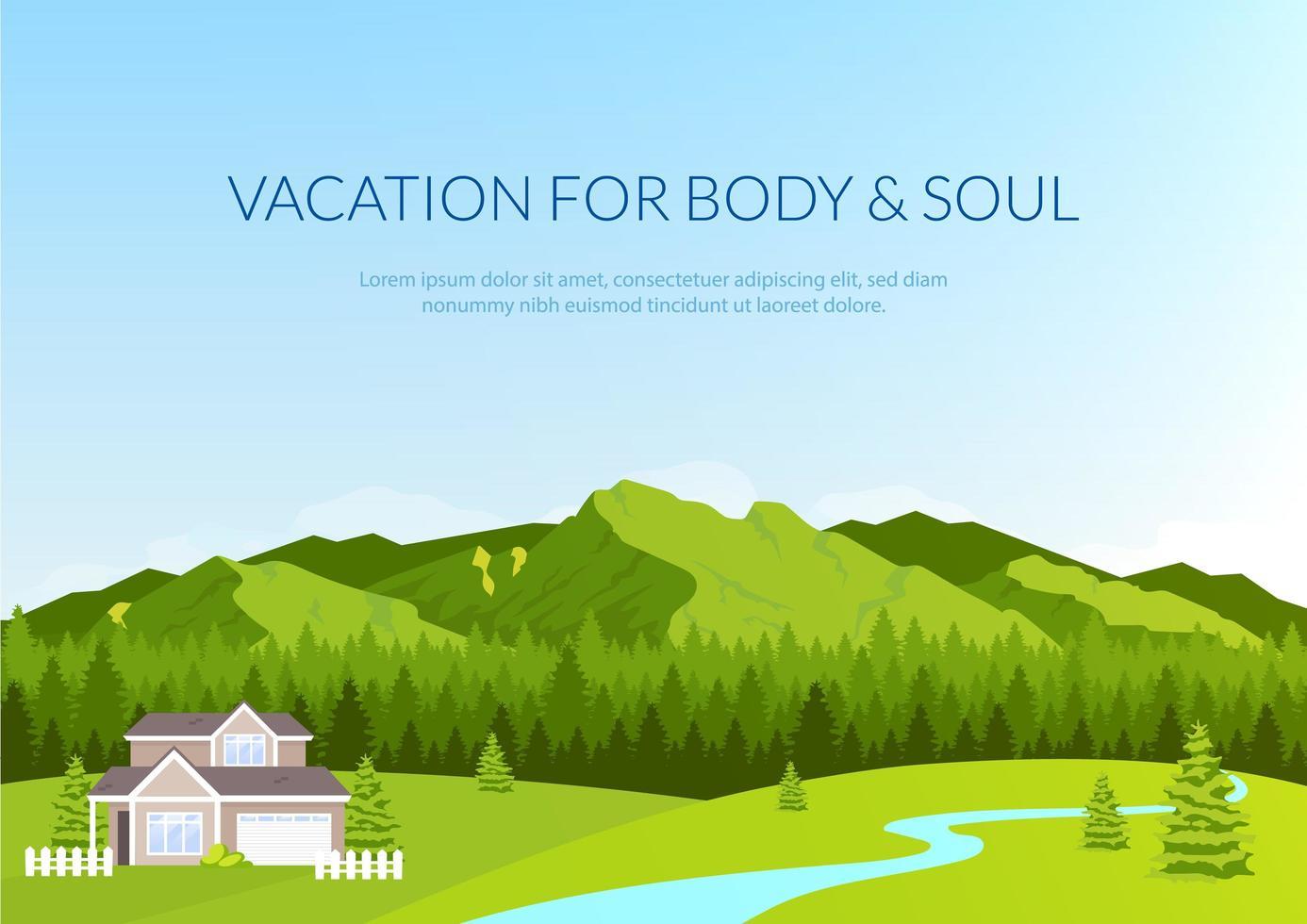 vakantie voor lichaam en ziel banner vector