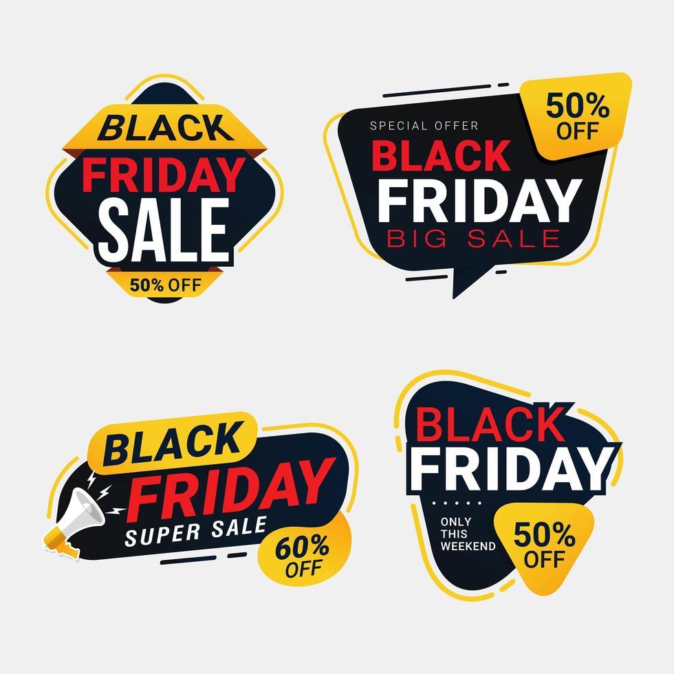 zwarte vrijdag verkoop banner kortingssjablonen vector