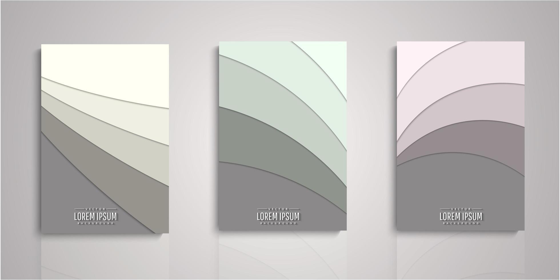 set van papier gesneden lagen covers vector