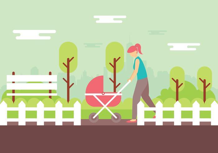 Nanny Illustratie vector