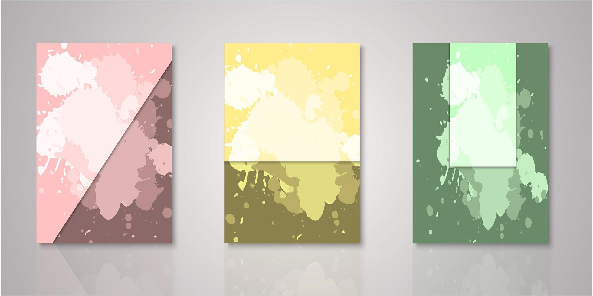set aquarel covers vector