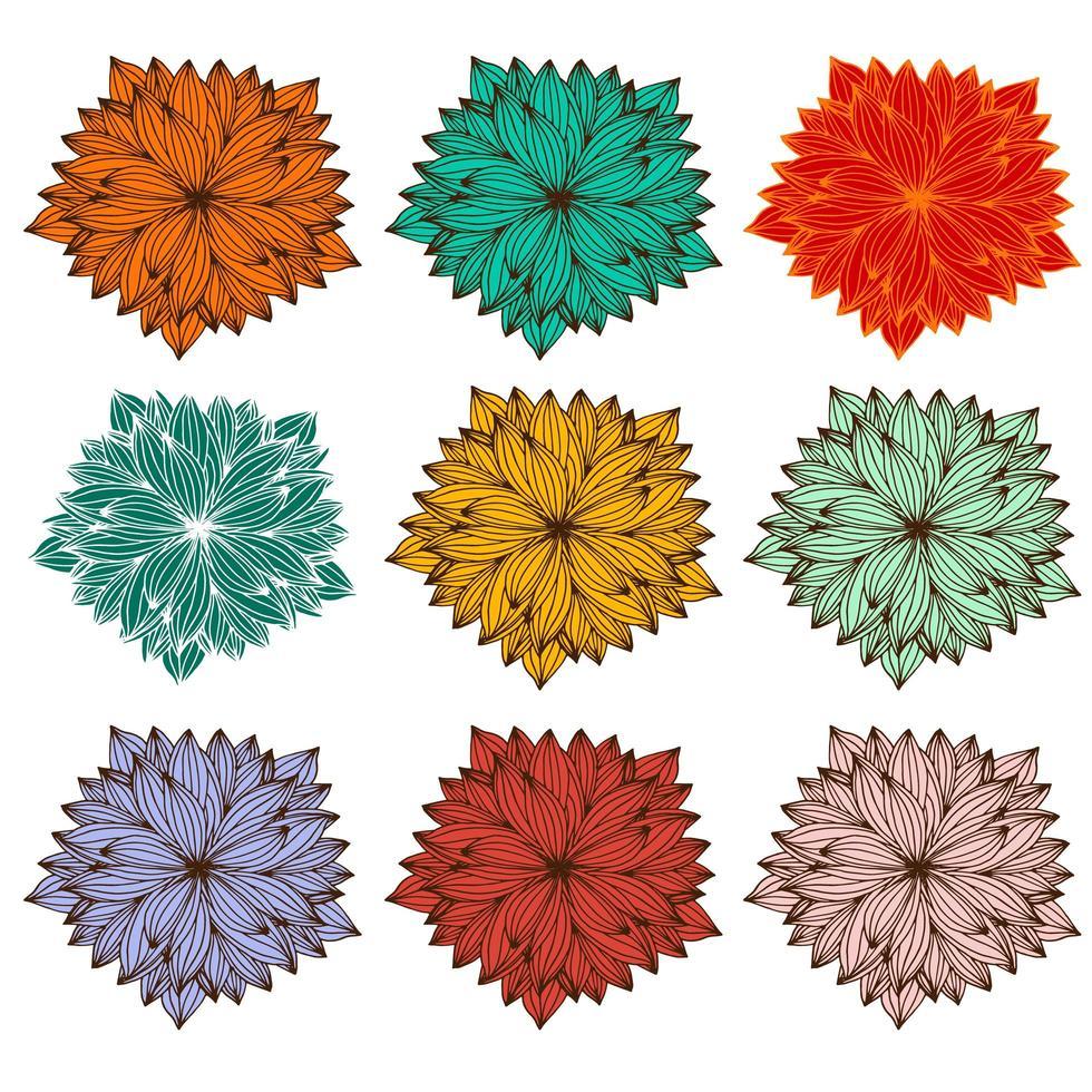 zentangle mandala set voor kleurboek vector