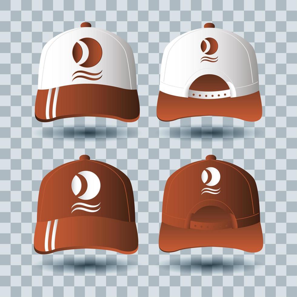 hoeden accessoires branding mock-up set vector