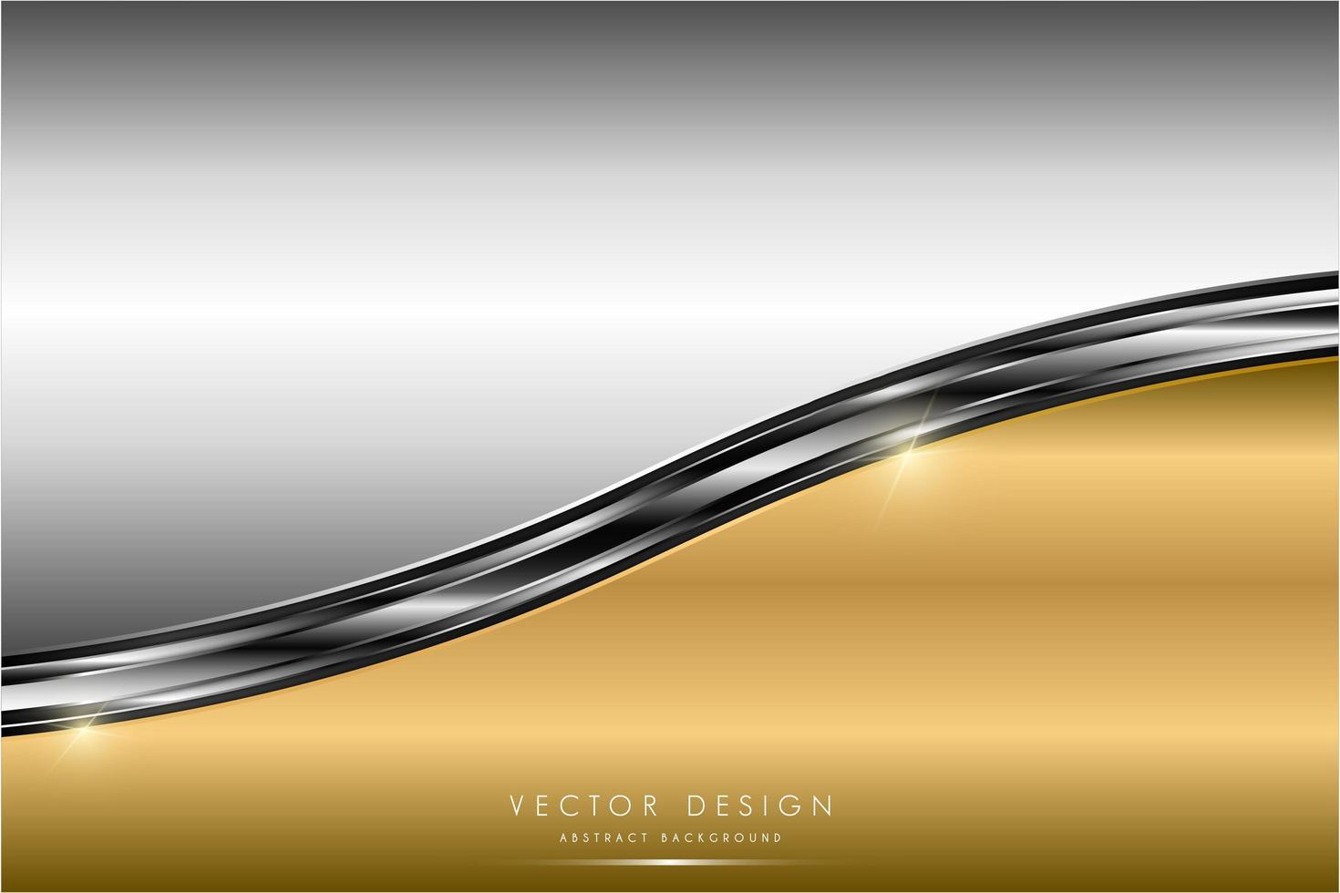 metallic goud en zilver glanzende gebogen panelen vector