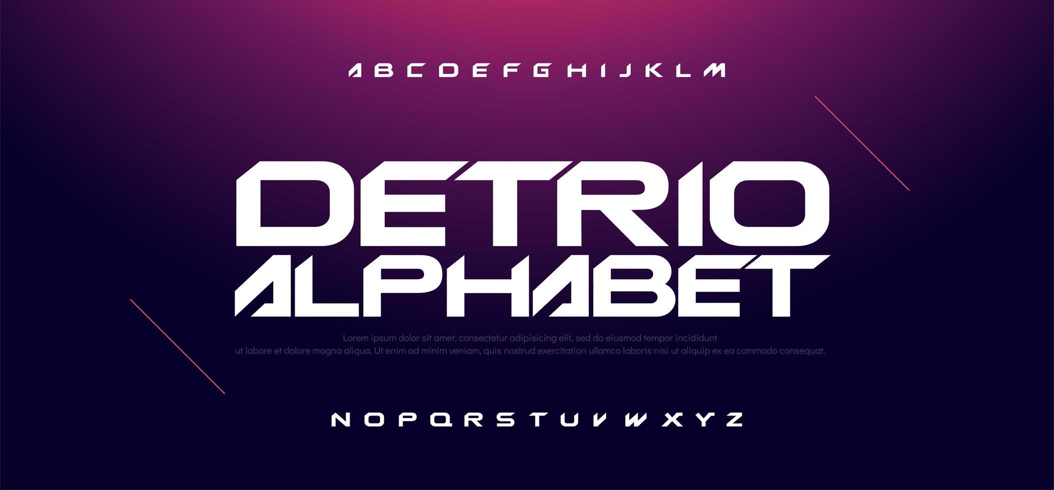 sport moderne technologie lettertype vector
