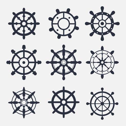 Schip Wheel Icon Vectors