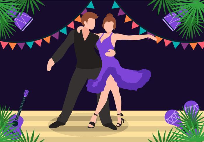 Salsa dansen op stadium vector