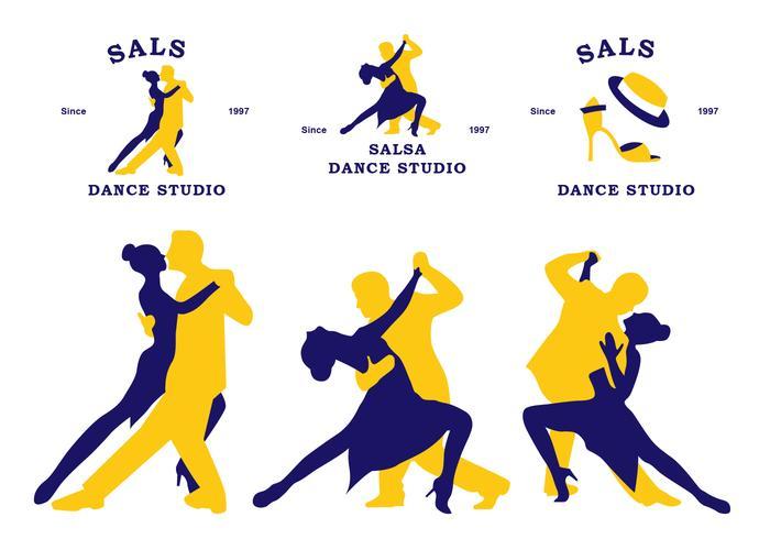 plat salsa community sticker vector