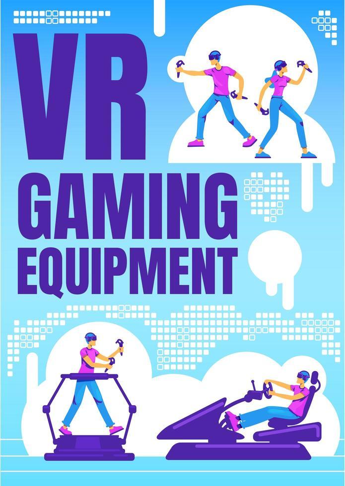 vr gaming-apparatuur poster vector