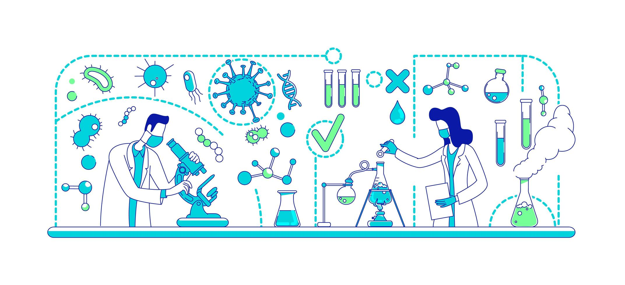 medisch experiment lab vector