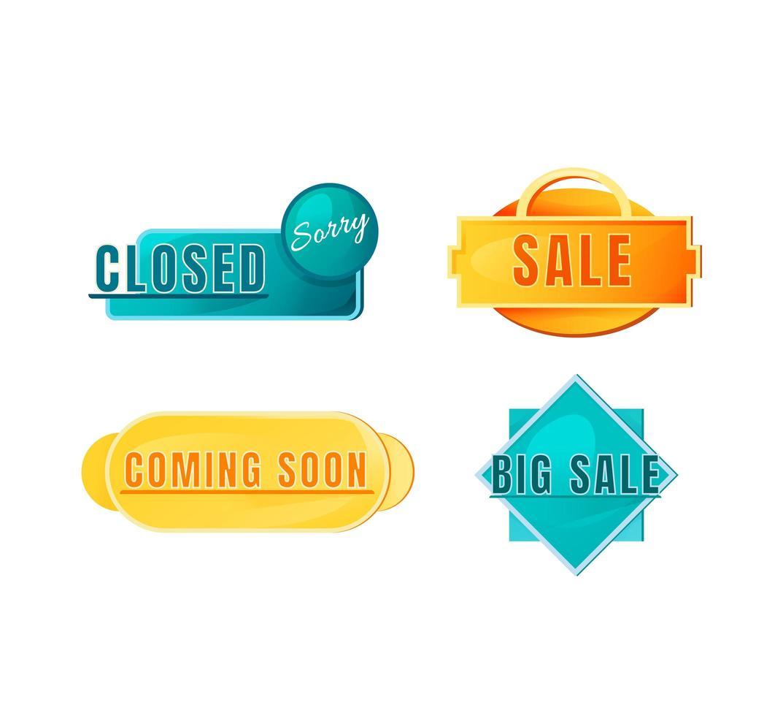 winkelbord teken set vector
