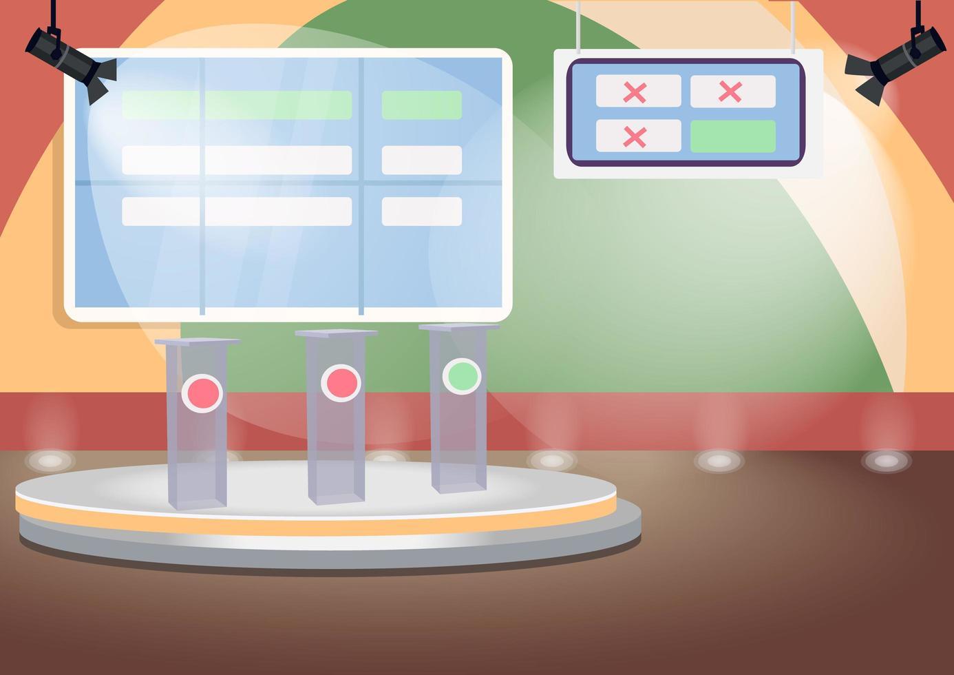 lege quiz show podium vector