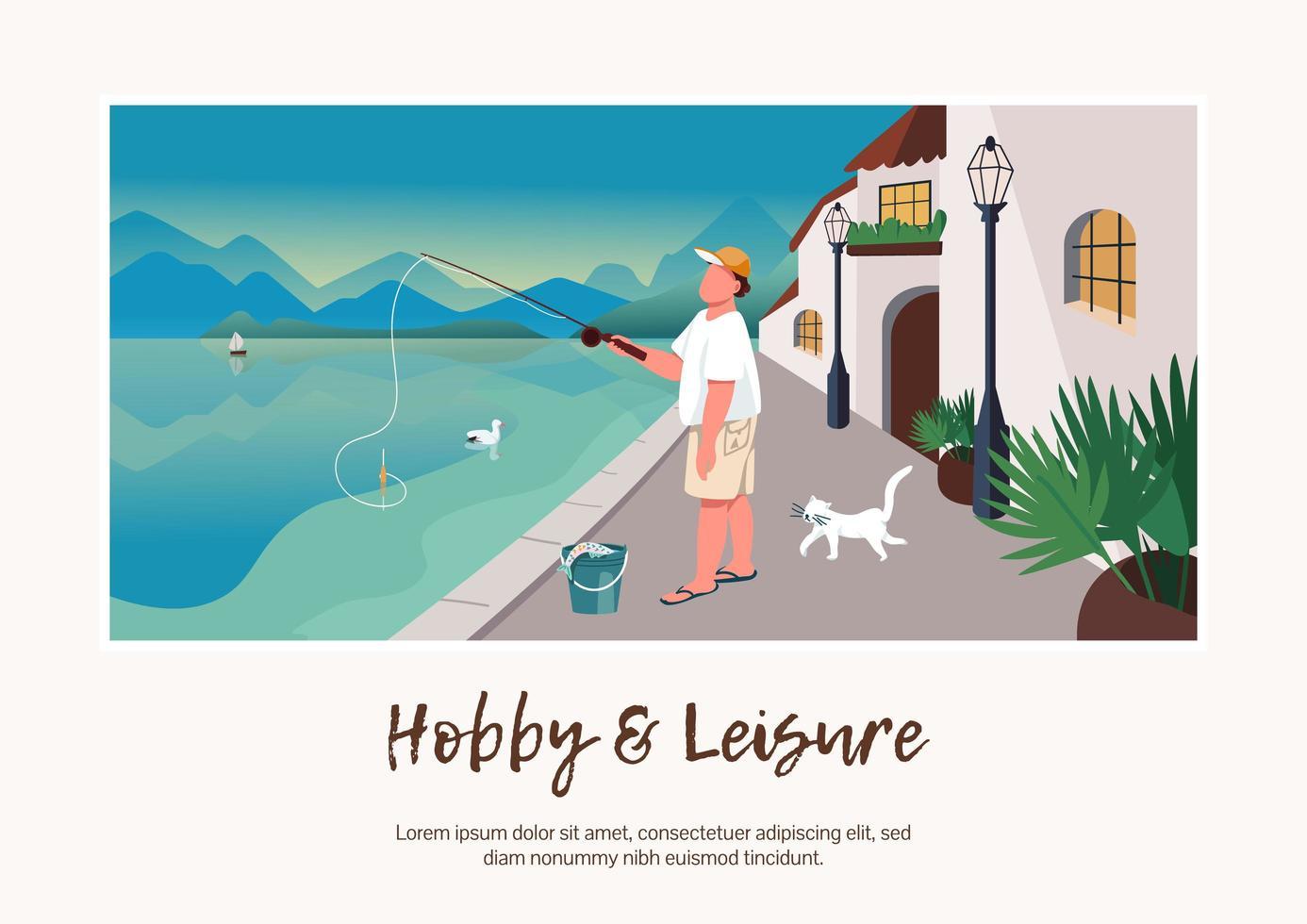 hobby en vrije tijd banner vector