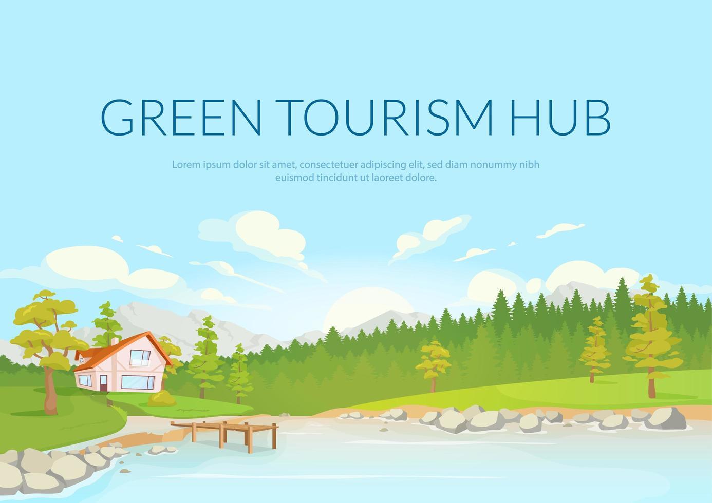 groene toeristische hub poster vector