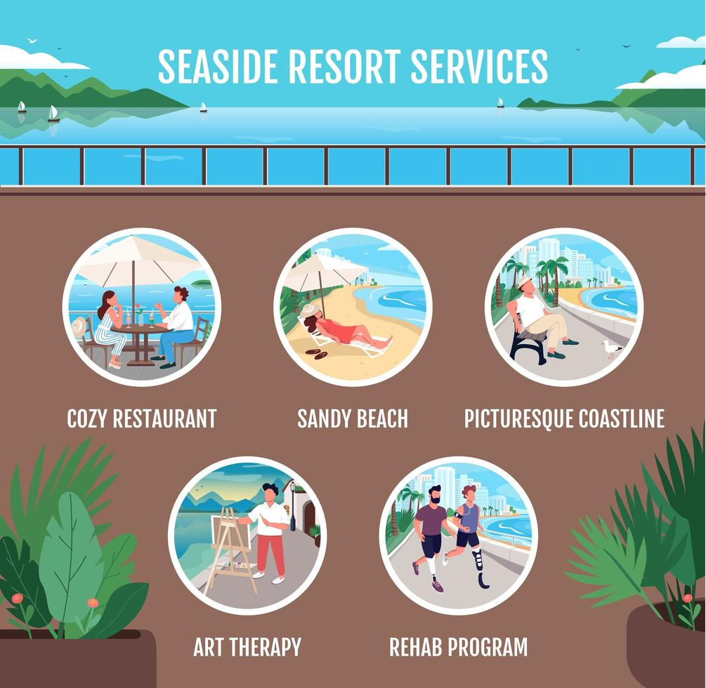 diensten aan zee vector