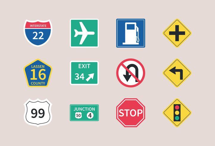 snelweg verkeersborden vector