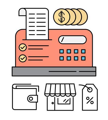Free Cash Register Illustratie vector