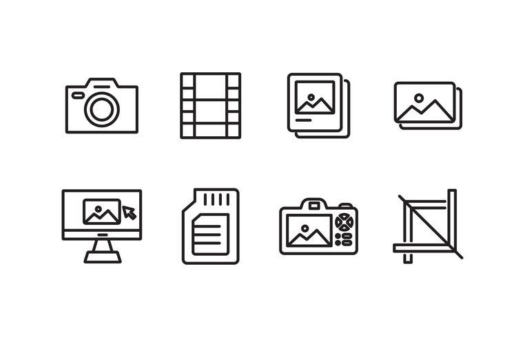 Fotografie Icon Pack vector