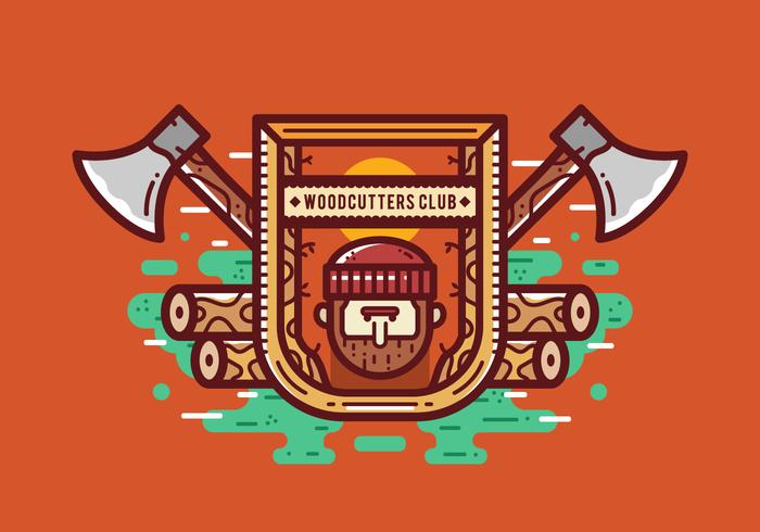 Gratis houthakker Houthakker Badgeg Vector