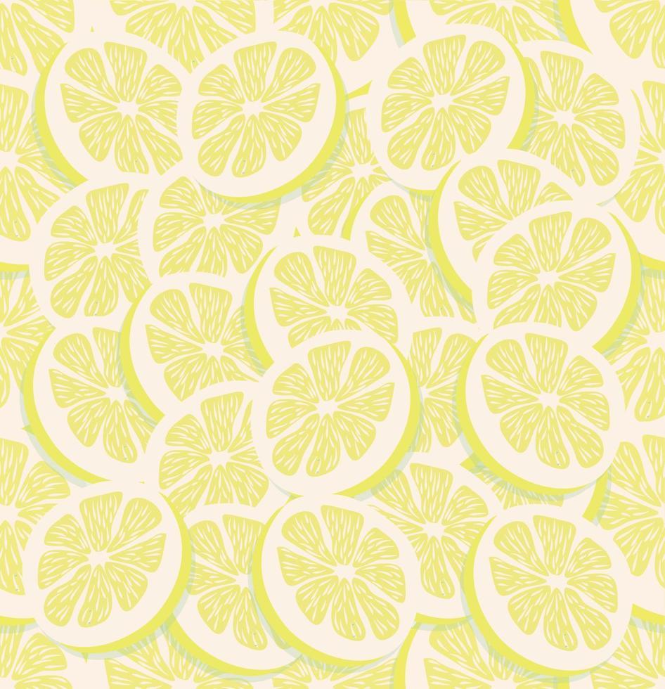 vers schijfje van een naadloze citroen vector