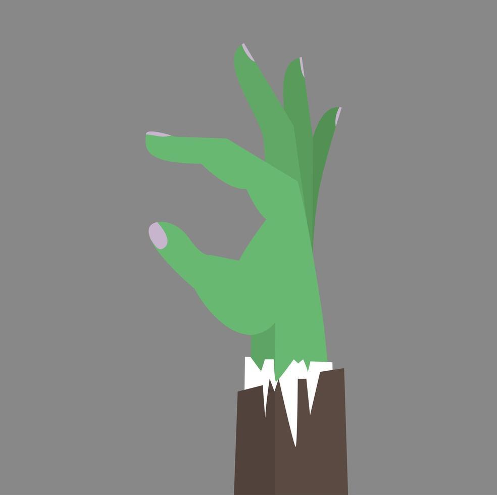 zombie hand zakelijke platte vector