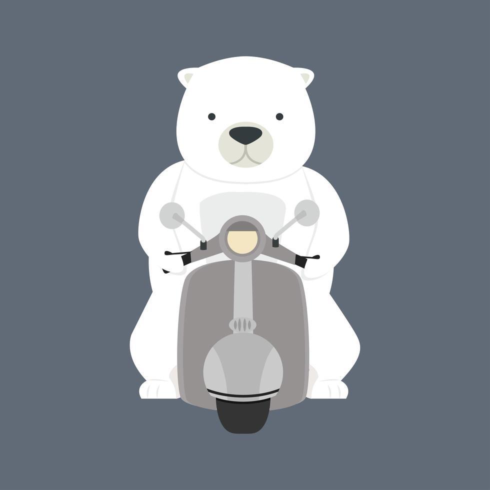 ijsbeer rijden motor vector