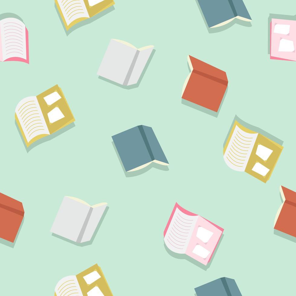 kleurrijke boeken vector patroon