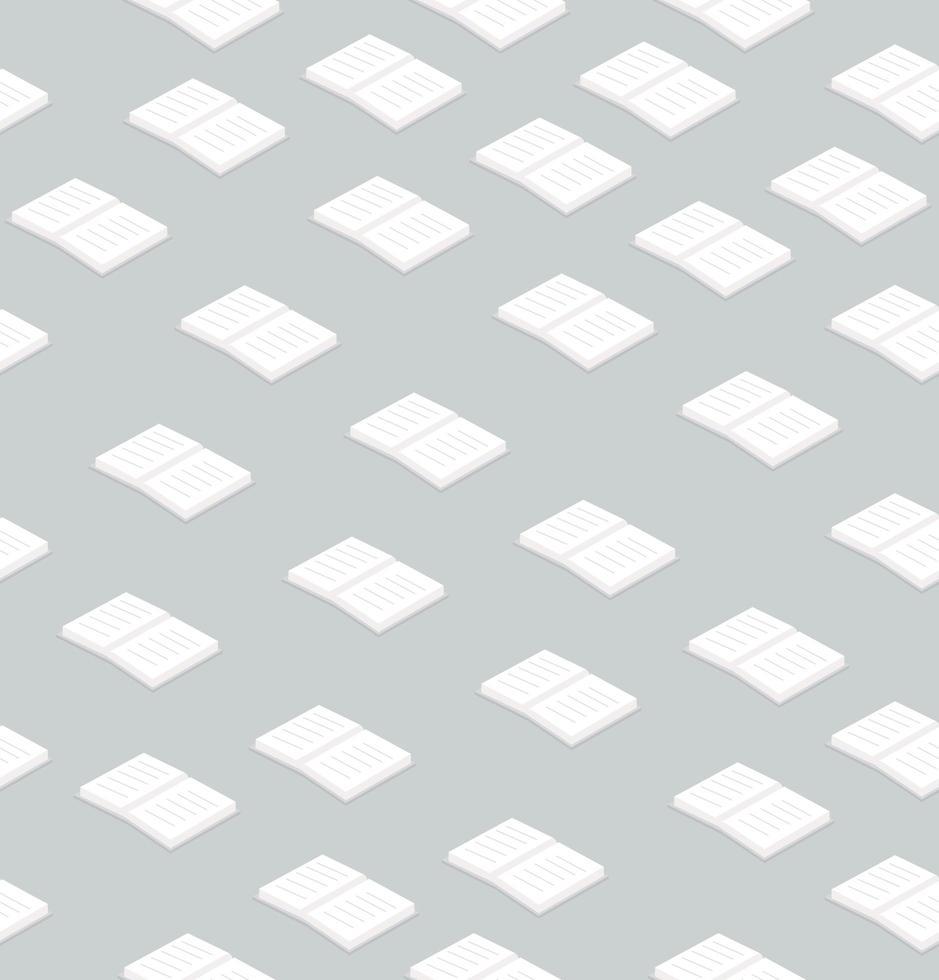 boeken platte ontwerp naadloze patroon vector