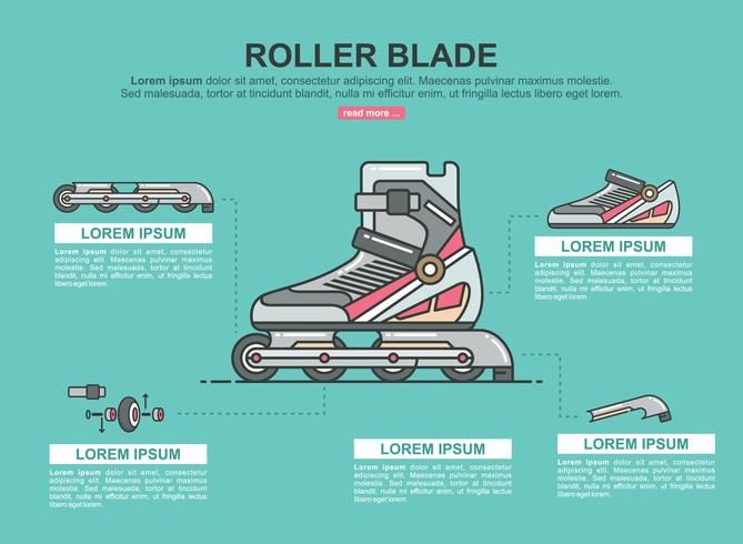 rollerblade infographic vector