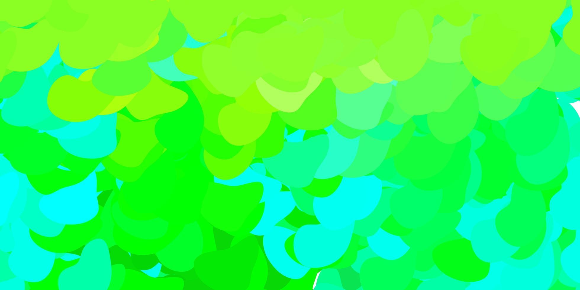 lichtblauw, groen sjabloon met abstracte vormen. vector