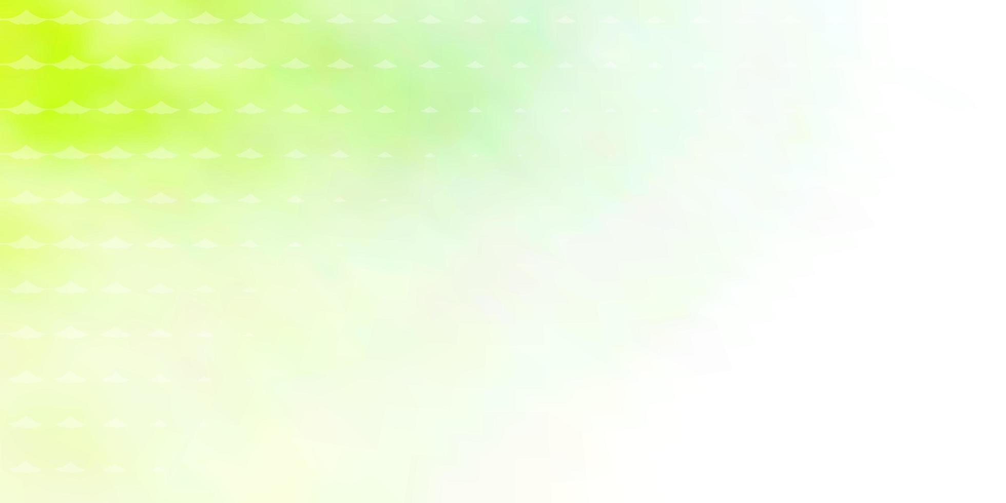 lichtgroene achtergrond met cirkels. vector