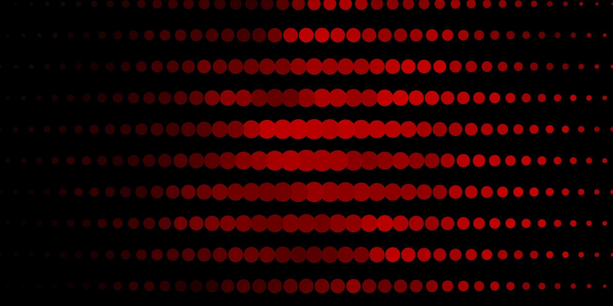 donkerrood vectorpatroon met cirkels. vector