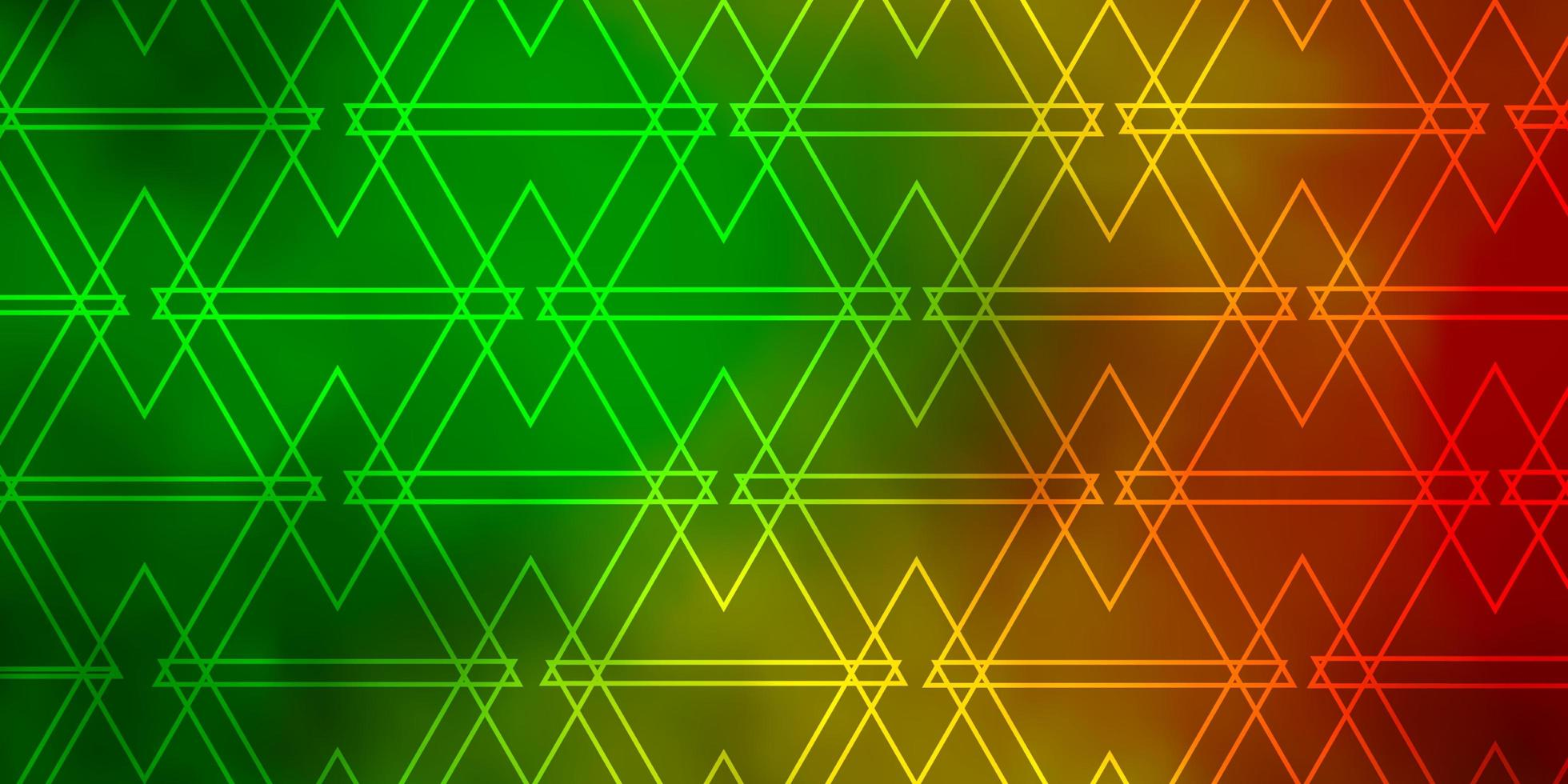 donkergroen, geel patroon met veelhoekige stijl. vector