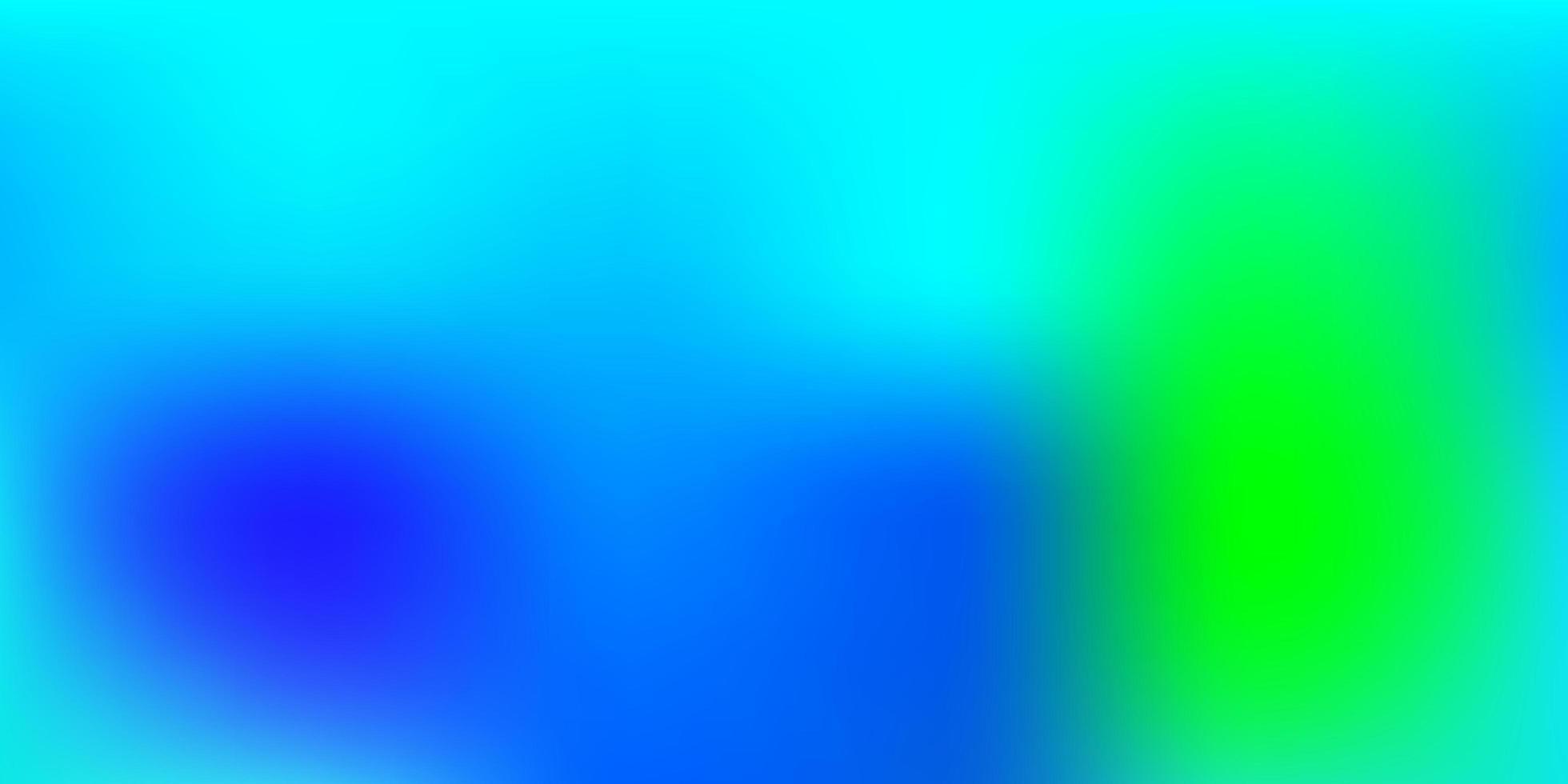 lichtblauwe, groene achtergrond wazig. vector