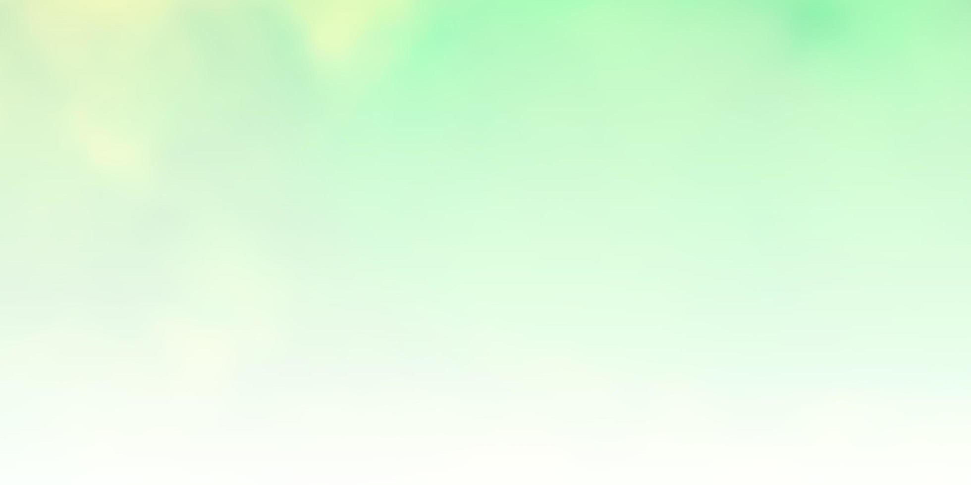 lichtgroen, geel sjabloon met lucht, wolken. vector