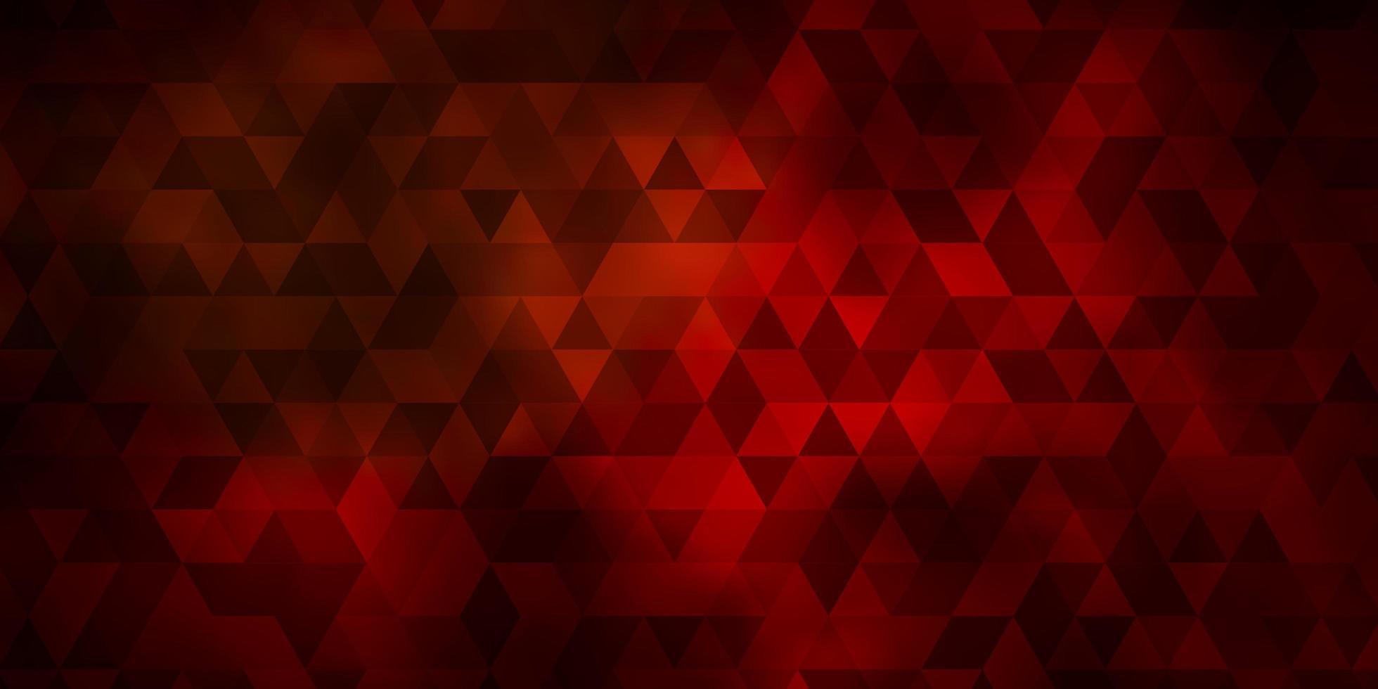donkerrood patroon met veelhoekige stijl. vector